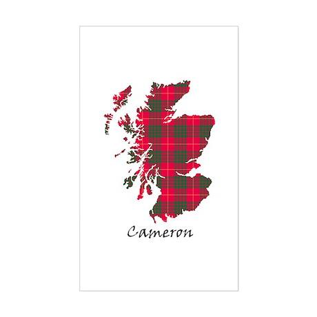 Map - Cameron Sticker (Rectangle)