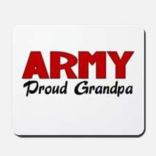 Army Grandpa (red) Mousepad