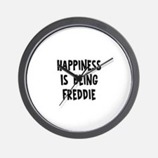 Happiness is being Freddie Wall Clock