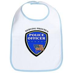 Police Serving Proudly Bib