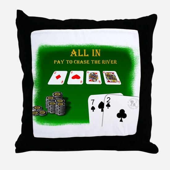 Chase the River Throw Pillow