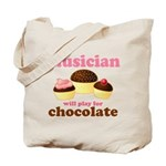 Musician Chocolate Tote Bag