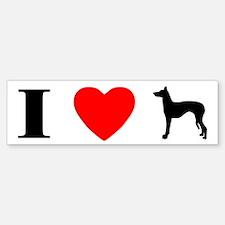 I Love Ibizan Hounds Bumper Bumper Bumper Sticker