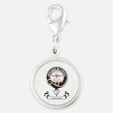 Badge - Cameron Silver Round Charm