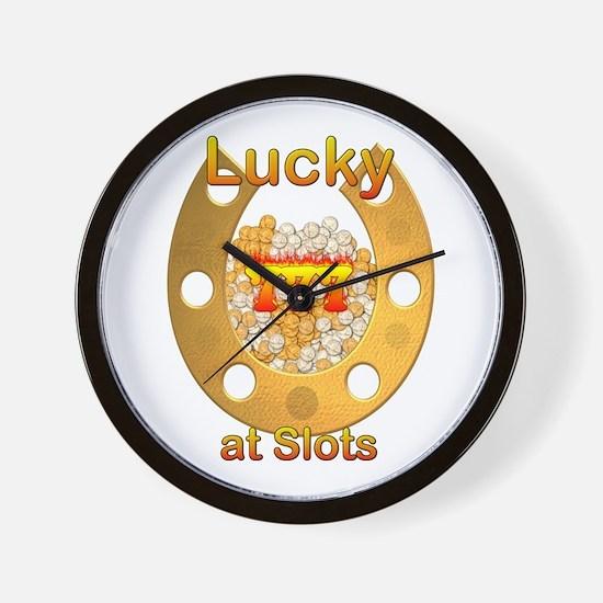 Lucky Slots Shirt Wall Clock