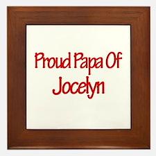 Proud Papa of Jocelyn Framed Tile