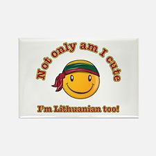 Not only am I cute I'm Lithuanian too Rectangle Ma