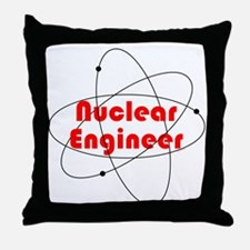 Nuclear Engineer Throw Pillow