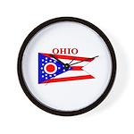 Ohio State Flag Wall Clock