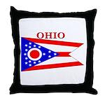 Ohio State Flag Throw Pillow