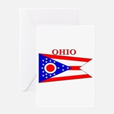 Ohio State Flag Greeting Card