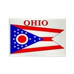 Ohio State Flag Rectangle Magnet (10 pack)