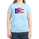 Ohio State Flag Women's Light T-Shirt