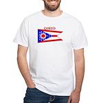 Ohio State Flag White T-Shirt