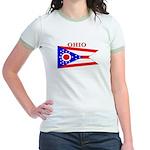 Ohio State Flag Jr. Ringer T-Shirt