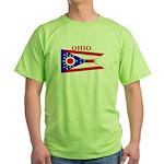 Ohio State Flag Green T-Shirt