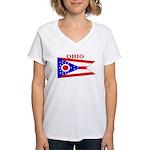 Ohio State Flag Women's V-Neck T-Shirt