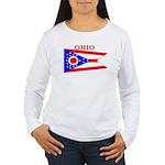 Ohio State Flag Women's Long Sleeve T-Shirt
