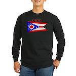 Ohio State Flag Long Sleeve Dark T-Shirt