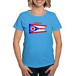 Ohio State Flag Women's Dark T-Shirt