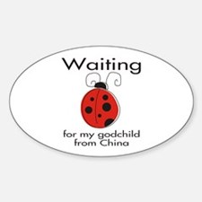 Waiting Godparent Oval Decal