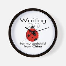 Waiting Godparent Wall Clock