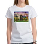 Autumn Angel & Affenpinscher Women's T-Shirt