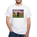 Autumn Angel & Affenpinscher White T-Shirt