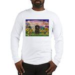 Autumn Angel & Affenpinscher Long Sleeve T-Shirt