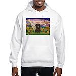 Autumn Angel & Affenpinscher Hooded Sweatshirt