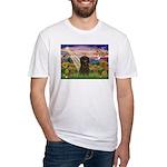 Autumn Angel & Affenpinscher Fitted T-Shirt