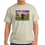 Autumn Angel & Affenpinscher Light T-Shirt