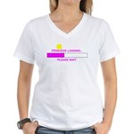 PRINCESS LOADING... Women's V-Neck T-Shirt