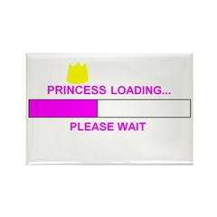 PRINCESS LOADING... Rectangle Magnet (100 pack)