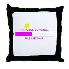 PRINCESS LOADING... Throw Pillow