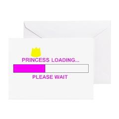 PRINCESS LOADING... Greeting Cards (Pk of 20)