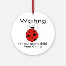 Waiting Grandparent Ornament (Round)