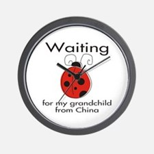 Waiting Grandparent Wall Clock