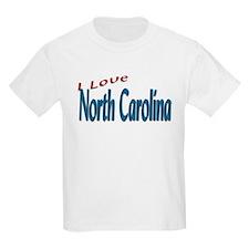 I Love North Carolina Kids T-Shirt