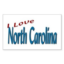 I Love North Carolina Rectangle Decal