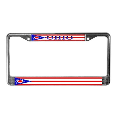 Ohio Blank State Flag License Plate Frame