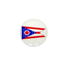 Ohio Blank State Flag Mini Button (10 pack)