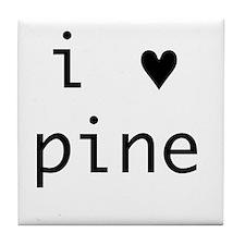 i heart pine Tile Coaster