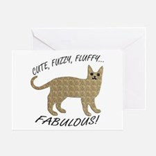 Fluffy and Fabulous Greeting Card