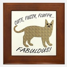 Fluffy and Fabulous Framed Tile