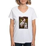 Windflowers / OES Women's V-Neck T-Shirt