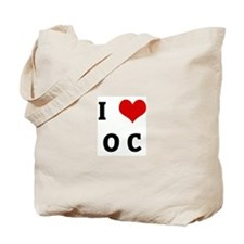 I Love O C Tote Bag