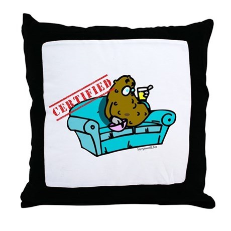 Certified Couch Potato (2) Throw Pillow