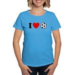 I Love Soccer Women's Dark T-Shirt