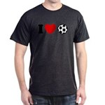I Love Soccer Dark T-Shirt